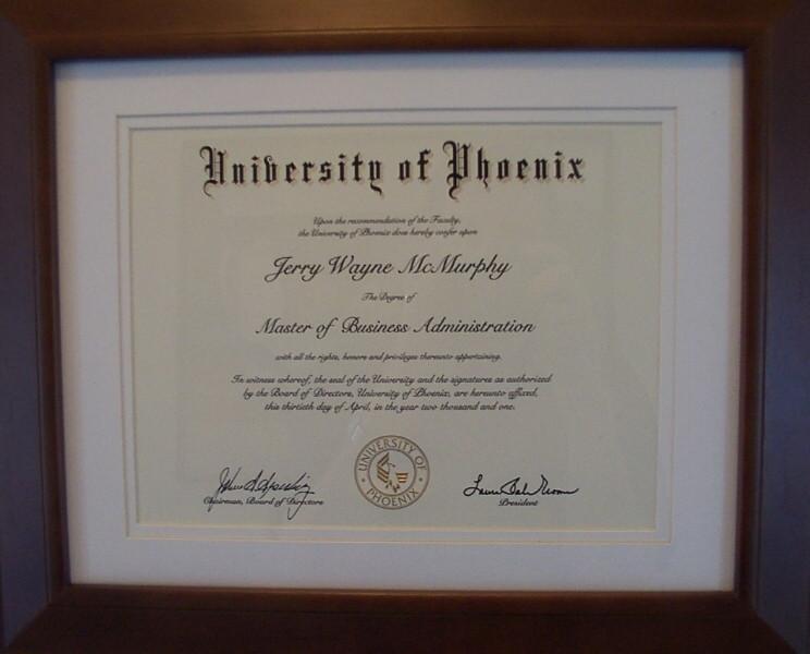 University Of Phoenix Employment >> About Me: Jerry McMurphy